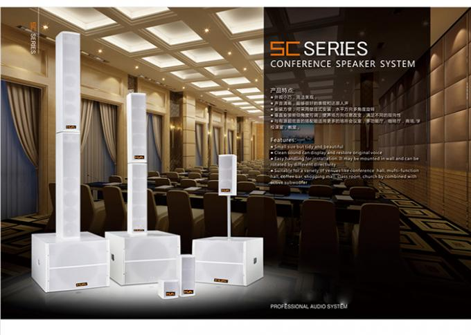White 16ohm 100W Line Array Column Speaker Conference Room Audio Systems LoudSpeaker