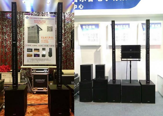 8 inch High Output Dual Column Line Array Speaker Boxes With Sand Texture Paint