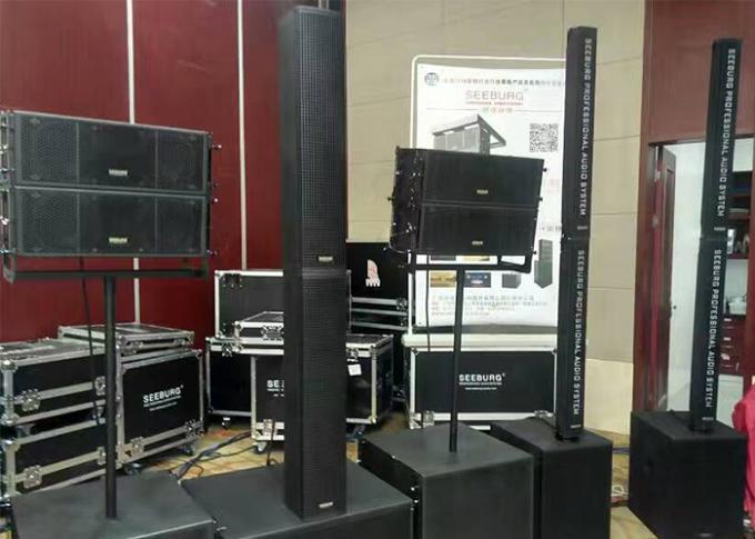 Line Array  Passive Powered Column Speakers Black Paint For Stage Carvin