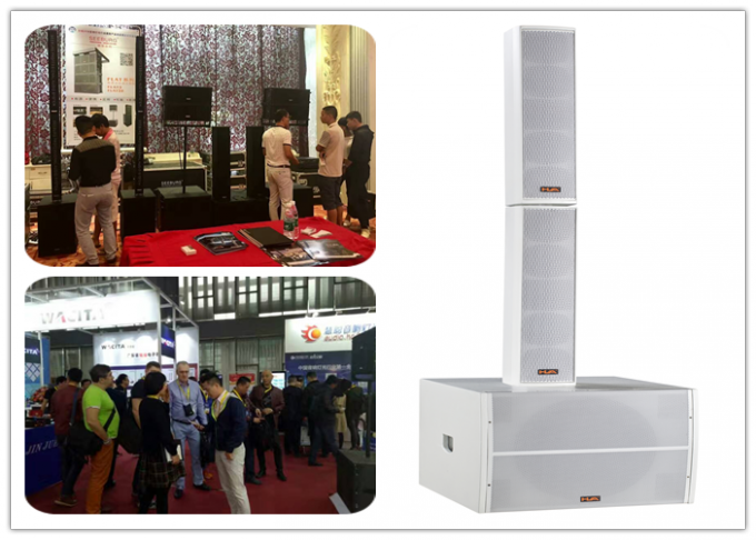 "White 8 ohm 200W  4x4"" Line Array Column Speaker for Pub / Stadium"