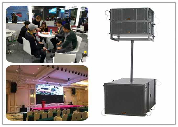 500W Portable Sound System Line Array Speakers With Dual 8 Inch Outdoor