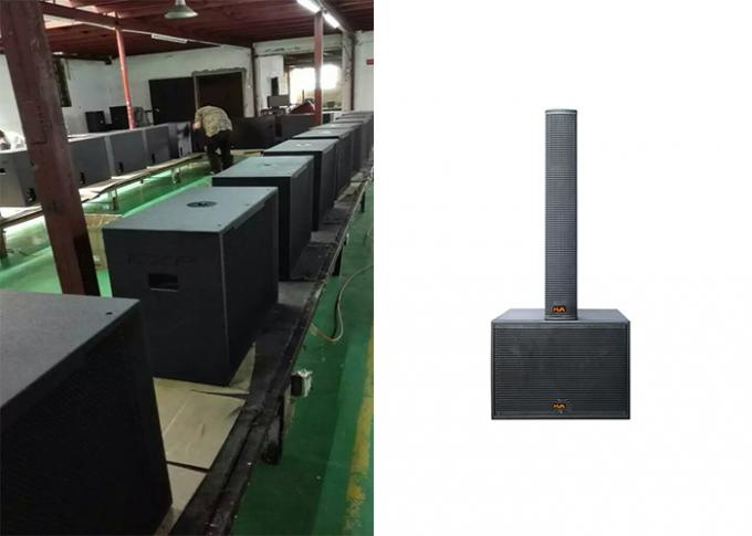 500W 4 X 6 Inch Portable Sound System Column Speaker With Black Paint