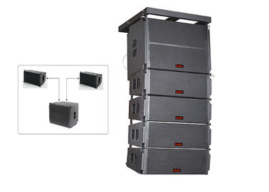 China Line Array Speaker Nightclub Sound Equipment  With Black Paint supplier