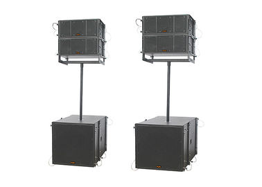 China Concert Sound System 500W Active Line Array System Connection 2x Speakon NL4 supplier
