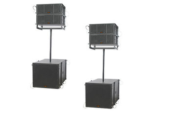 China 8 inch High Output Dual Column Line Array Speaker Boxes With Sand Texture Paint supplier