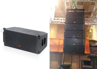 China Two-way Line Array Speaker Passive Mode Dual 10 Inch Black Wooden Box supplier