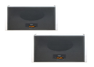 China High Output Outdoor Professional Line Array Speaker Boxes With Sand Texture Paint Pa System supplier