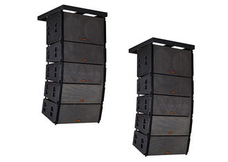 "China Dual 12"" Polywood Church Speaker System / Line Array Speaker for Outdoor Events supplier"