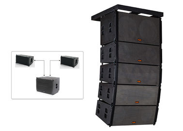 China Powered Prosound DJ Equipment 500W Mini Line Array Speaker With Black Paint factory