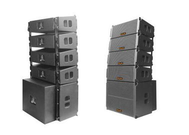 China 250 W Nightclub Sound Equipment Indoor Dual 8 Inch Line Array Speaker With Black Sand factory